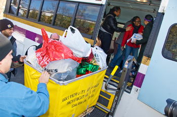 Hundreds of toys and other gifts are delivered to Parsons Child and Family Center, just one of the ways the UAlbany community participates in holiday volunteerism.