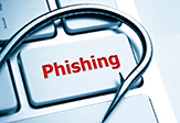 Phishing attacks on a computer