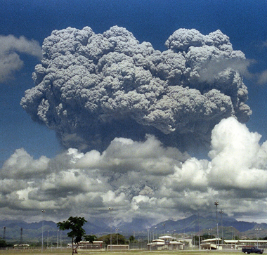 Mount Pinatubo Eruption, 1991 in the Phillippenes