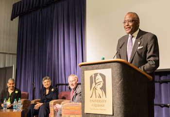 President Jones honors Carlotta Walls LaNier at UAlbany