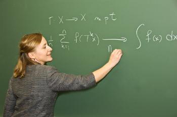 Mathematics professor Karin Reinhold helped secure the award.