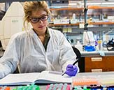 Student studying at RNA Institute