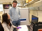 UAlbany RNA Professor Dan Fabris works with colleagues
