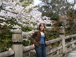 UAlbany student Holly Baranowski in Japan.