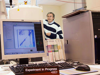 Alexander Shekhtman in his NMR lab