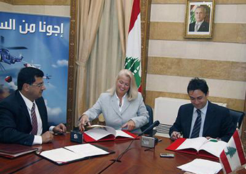 Signing the agreement at the Ministry of Interior and Municipalities