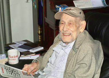 UAlbany retired professor of German Willard E. Skidmore, at 100.