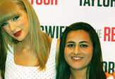Taylor Swift and UAlbany sophomore Zainub Amir