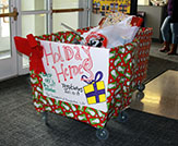 cart filled with donated gifts