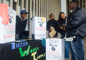 Third World Impact holds a clothing drive.