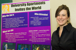 Whitney Sperrazza was recognized for creating a multicultural event.