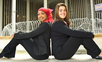UAlbany students Deen Yousif and Rachel Galgan