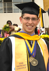 Zakhar Berkovich at the 2008 University at Albany-SUNY Undergraduate Commencement.