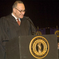 Senator Charles Schumer at 2007 Winter Commencement