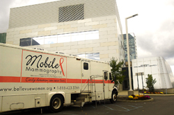 Bellevue Mobile Mammography Van at the University at Albany's Cancer Research Center