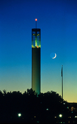 The Carillon Tower at night