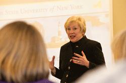 SUNY   Chancellor Nancy Zimpher Speaks at Rockefeller College