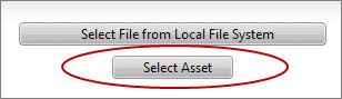 Select Asset button