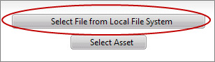 Select File from Local file System button