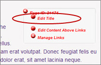 Edit Title red dot