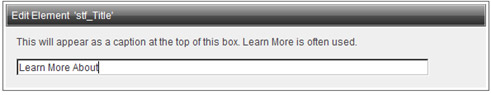 Edit Element Title window