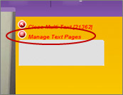 Manage Text Pages red dot