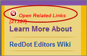 Open Related Links red dot
