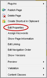Edit Properties