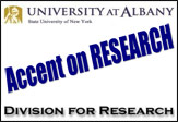 University at Albany, Division for REsearch Accent on RESEARCH