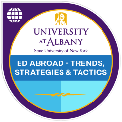 Digital badge for Education Abroad - Trends, Strategies & Tactics