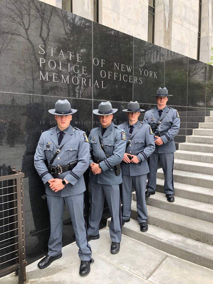UPD Officers at State of New York Police Officers Memorial
