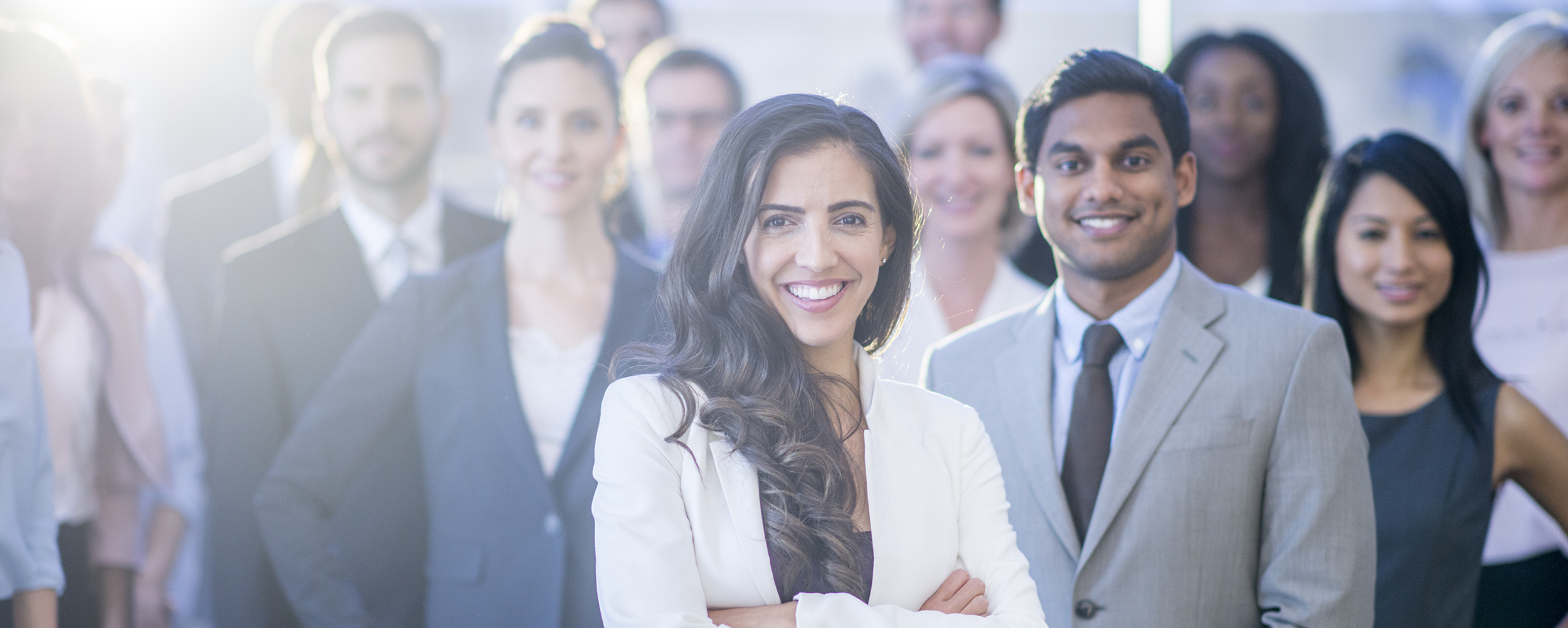 Happy Group Of Office Workers - Stock image