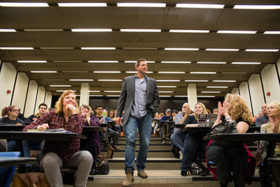 Edward Burns, award-winning filmmaker, actor, screenwriter, and former UAlbany student returned to campus for a New York State Writers Institute event on November 6, 2015.