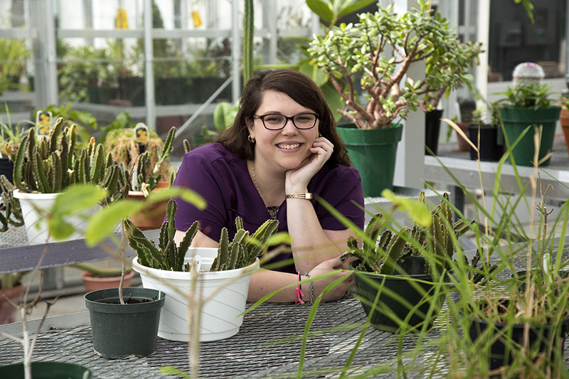 Student conducting undergraduate research