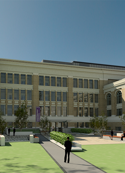 2019 artist rendering of the Schuyler Building after renovations
