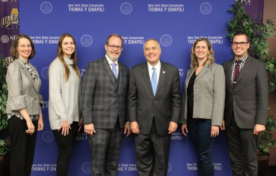 UAlbany group with NYS Comptroller Thomas DiNapoli