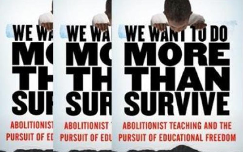 Bettina Love's book cover: We want to do more than survive: Abolitionist teaching and the pursuit of educational freedom