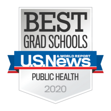 Best grad school in public health 2020 badge ranking