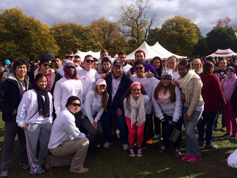 World of Business students at Breast Cancer Walk for a Cure.