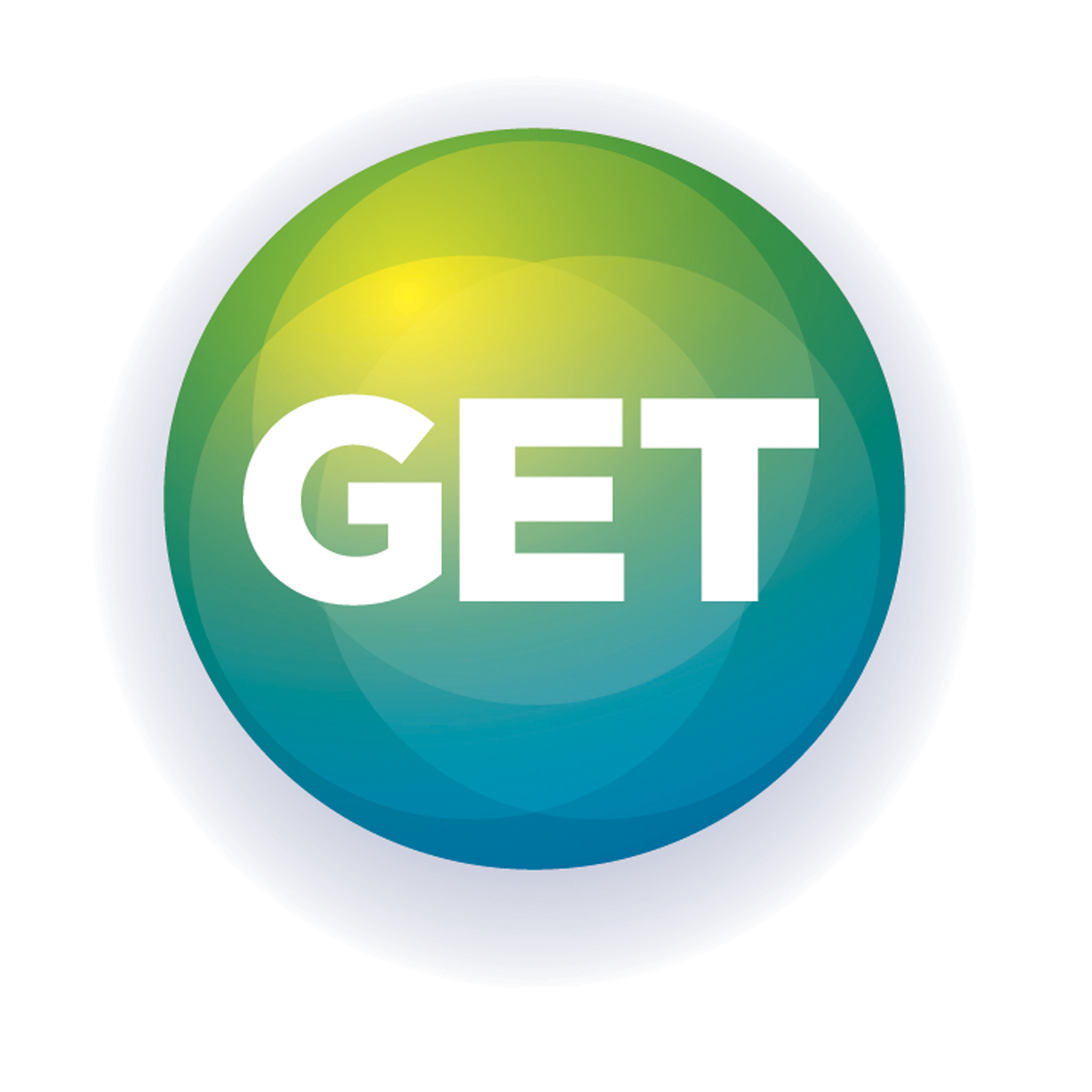 G-E-T text logo surrounded by a blue and green circle.