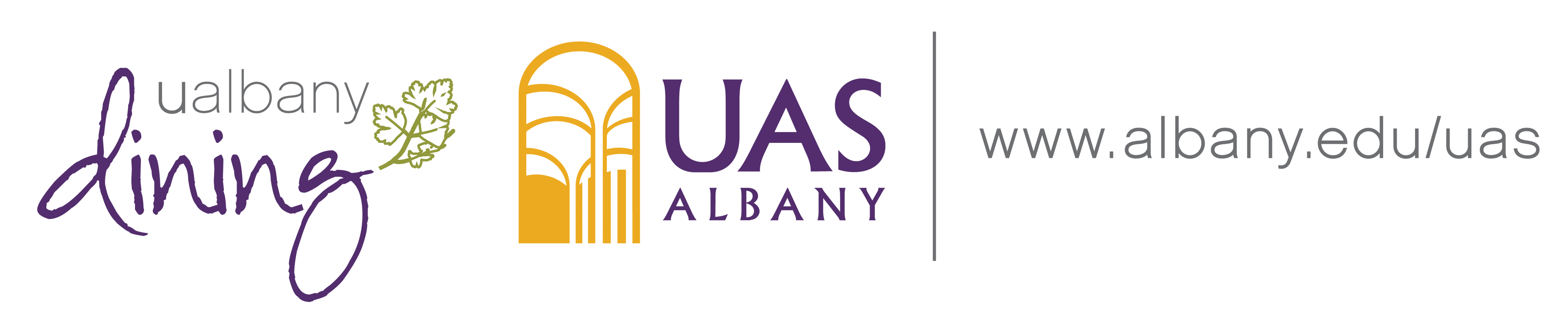 Cobranded UAS and UAlbany Dining Logos