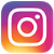 Instagram icon. Pink gradient tile with white camera icon.
