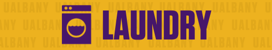 Clickable button for laundry information at UAlbany