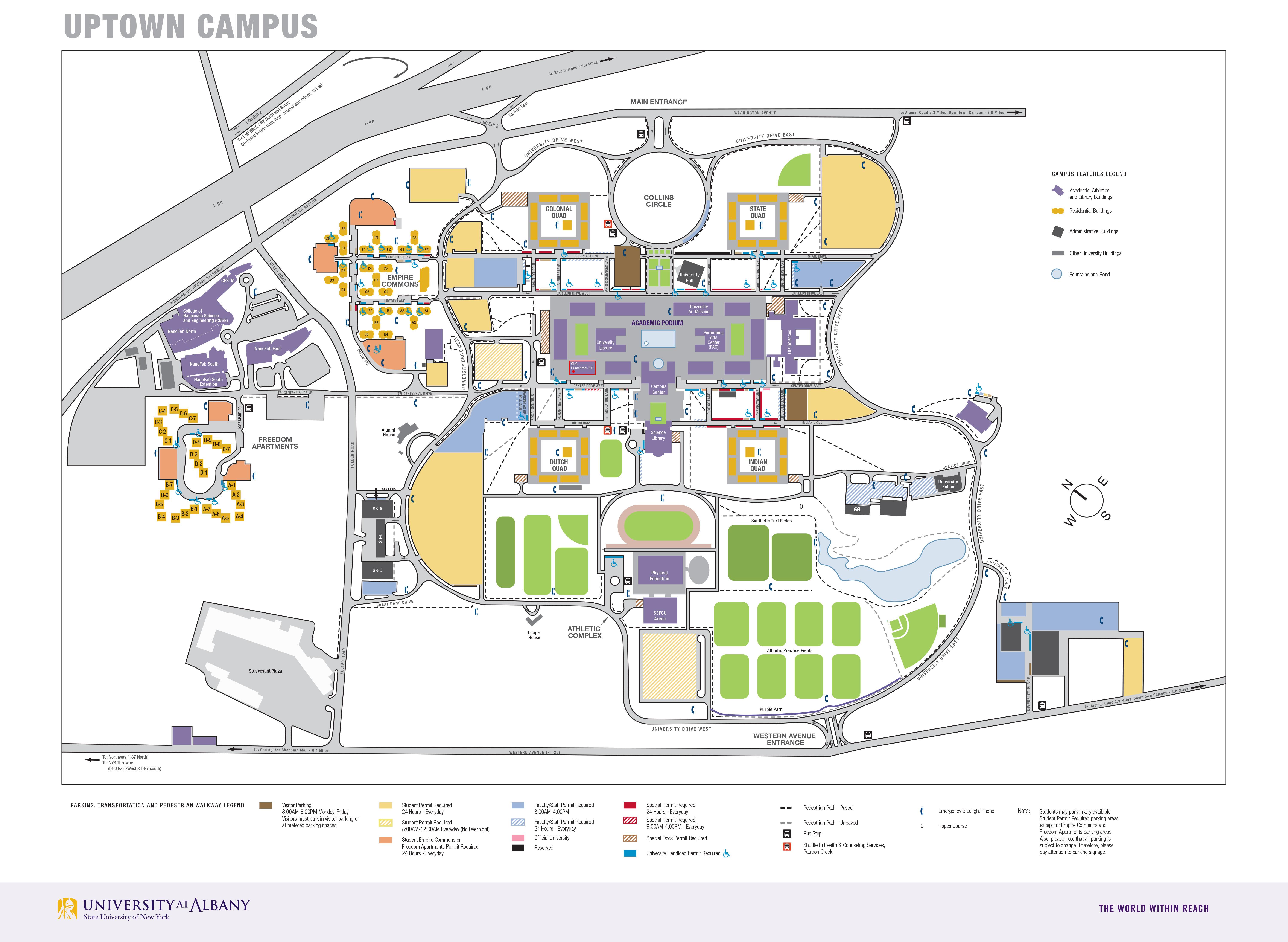 Suny Albany Map University at Albany   SUNY | Anthoine Vérard | Contact Suny Albany Map