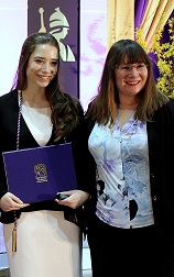 Elise Coombs at Award Ceremony