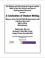 Spring, 2019 WCI Writing Contest Flyer