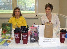 Cornell University Cooperative Extension, Columbia County presented at the Women's Health Project community event