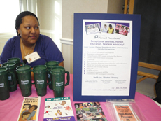 Upper Hudson Planned Parenthood table at a community event of the Women's Health Project