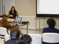 Photo of Karen Mort of the Cornell Cooperative Extension Columbia County at Women's Health Project event