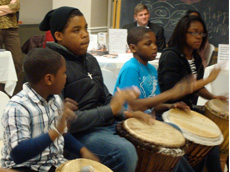 Kuumba Dance and Drum Students from Operation Unite Education and Cultural Arts Center perform